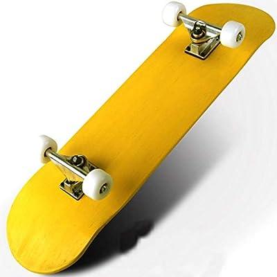 HENGTONGTONGXUN New Pure Color Skateboard Four-Wheel Double Maple Skateboard 5 Inches Magnesium Aluminum Alloy Truck Bridge (Color : Yellow): Sports & Outdoors