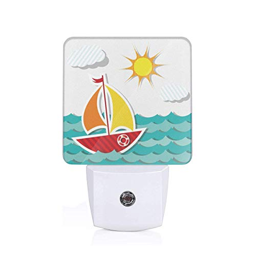 KMYUROOL Light Up The Room LED Night Light Sail Boat Button Portable Rechargeable LED Desk Lamp (The Crystal Chandeliers Light Up The Paintings)
