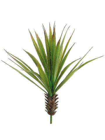 17'' Mini Dessert Yucca Plant Green (Pack of 12) by Silk Decor