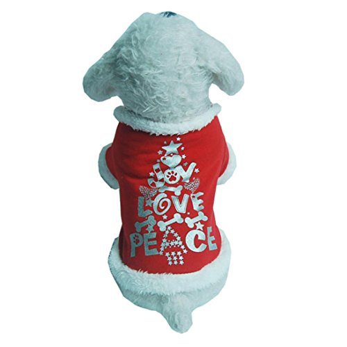[DEESEE(TM) Pet Dog Puppy Santa Shirt Christmas Costumes Warm Coat Apparel Sweater (M)] (4xl Santa Costume Uk)
