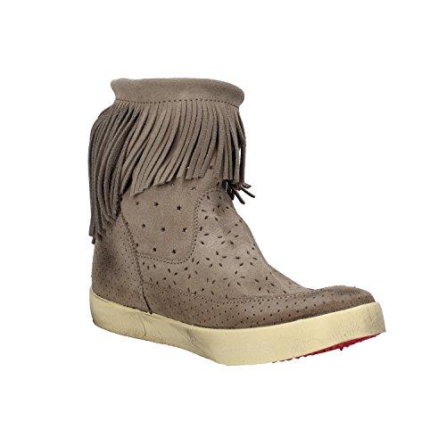 scarpe donna ISHIKAWA sneakers beige camoscio AM662