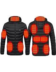 Kuashidai Verwarmde jas elektrische verwarming jas lichtgewicht USB elektrische bodywarmer kleding voor mannen en vrouwen, outdoor camping wandelen skiën