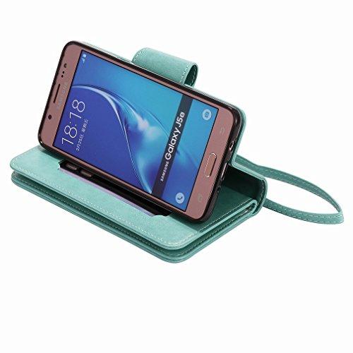 Yiizy Samsung Galaxy J5 (2016) J510 Funda, Chica Repujado Diseño Solapa Flip Billetera Carcasa Tapa Estuches Premium PU Cuero Cover Cáscara Bumper Protector Slim Piel Shell Case Stand Ranura para Tarj
