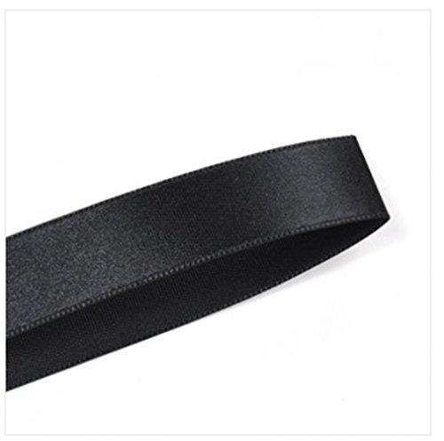 BLACK Single Face Satin Ribbon Roll Choose Size 1/4