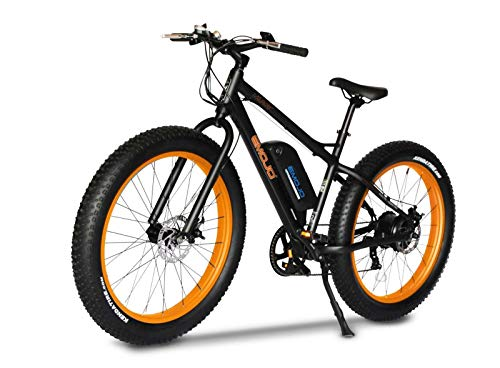 Emojo Wildcat Electric Bike Mountain 26 inch Fat Tire Electric Power Bicycle, with 500W Motor and Removable 48V 10.4AH Lithium Battery (Orange)
