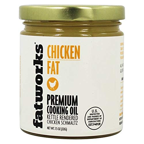 Fatworks 100% Organic Non-GMO, Chicken Fat (Schmaltz) for Medium High-Heat Cooking, Frying, Baking, Soups, Dressings and Marinades, 7.5 oz
