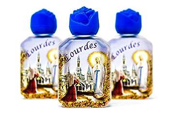 3 Lourdes relleno de botellas de agua con agua de Lourdes & Blessed.