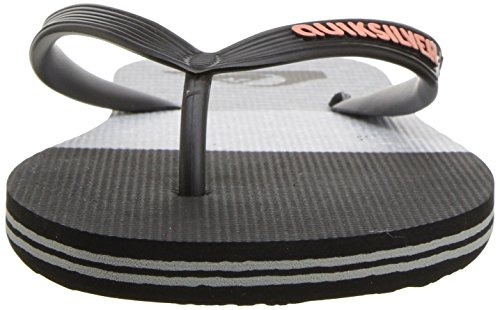 Black Men's Logo Sandal Molokai Slab Quiksilver Black Grey 7q81wC