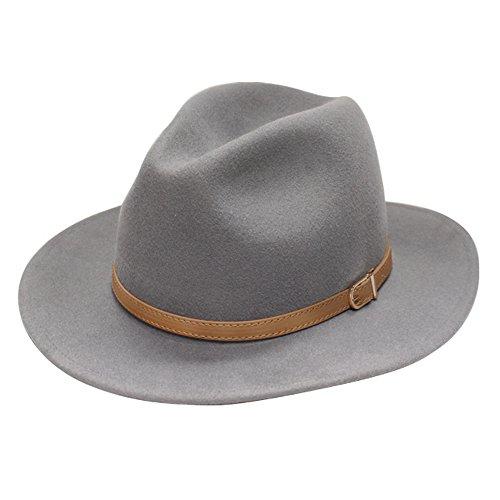 31db64d4a68 City Hunter Pmw91 Wide Brim Wool Felt Fedora Hat -3 Colors - Import ...