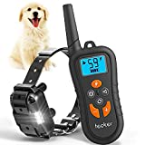 Cheap Dog Training Collar, Bark Wireless E-Collars with Remote 1800ft Rechargeable IP67 Waterproof with 4 Modes Beep/Vibration/Shock/LED Light for Small Medium Large Dogs