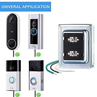 Doorbell Transformer Compatible with Ring Video Doorbell Pro 16v 30va Hardwired Door Chime Transformer