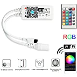 Magic Hue WiFi RGB Controller for LED Light Strips, Android and iOS Free App WiFi Control Box, Compatible with Alexa & Google Assistant, Comes with 24 Keys Remote Control