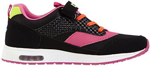Lico Mädchen Cool Vs Low-Top Schwarz (schwarz/pink/orange)