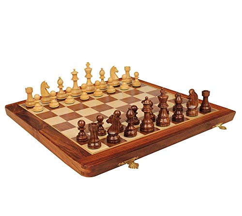 A Innovative Craft Gallery Wooden Foldable Hand Made Chess Board Game Set|Game of Brilliance Small Chess Pieces|Non-Magnetic|12 Inch (B08B4MQ5NY) Amazon Price History, Amazon Price Tracker
