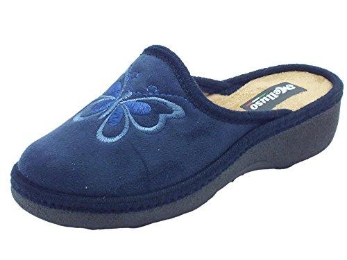 MELLUSO Pd405 Blu, Chaussons pour femme Bleu