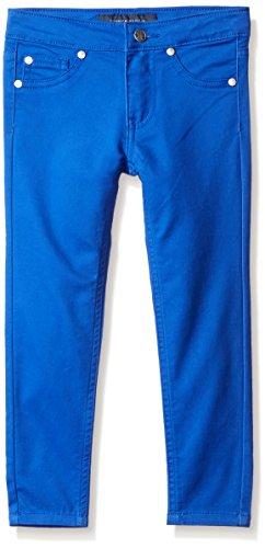 Tommy Hilfiger Big Girls' Five Pocket Stretch Sateen Pants, Dazzle Blue, (Sateen Pocket)