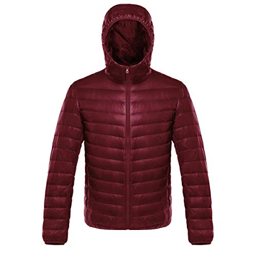Laisla Sleeve Winered Jacket Coat Outerwear Down Long Slim Autumn Jacket Boy Down Quilted Winter Winter Clásico fashion Fit Lightweight Down Jacket Hooded Men's Mens rwWr6q4Af