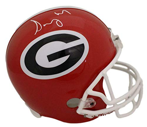 Sony Michel Autographed/Signed Georgia Bulldogs Replica Helmet JSA