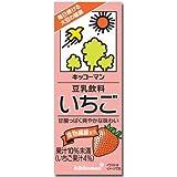 キッコーマン 豆乳飲料 いちご 200ml×18本×2箱(36本)