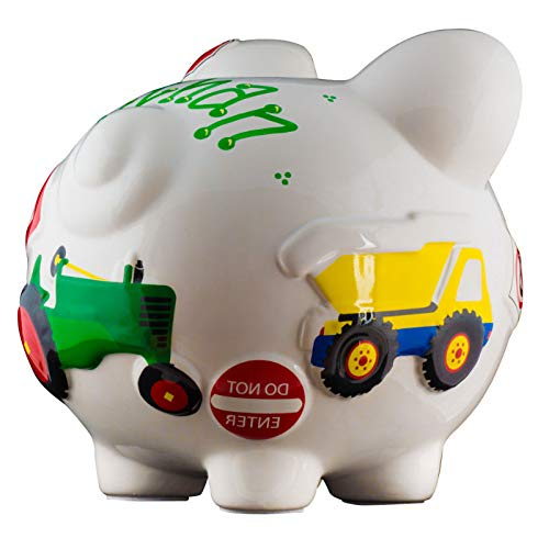 Work Truck Boys Piggy Bank - Large - (Personalized & Custom With Name And Year) (First Financial Toy For Teaching Boys & Girls About Saving Money) (Perfect Unique Gift Idea For Babys 1st Birthday) by HolidayTraditions (Image #3)