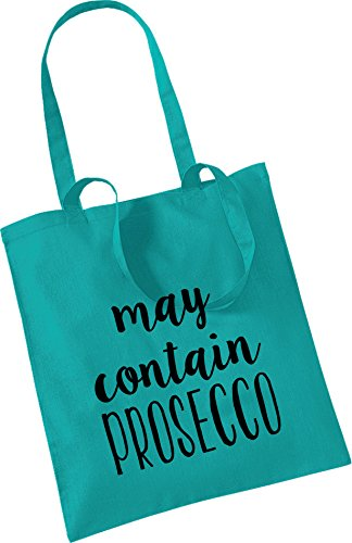 100 Present CONTAIN Mum Shopping PROSECCO Green Bag Tote Cotton Friend MAY qgEw8w