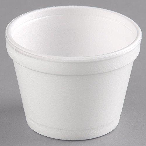 Dart 12SJ20 CPC 12 oz Squat Food Container Foam - White44; Case of 500