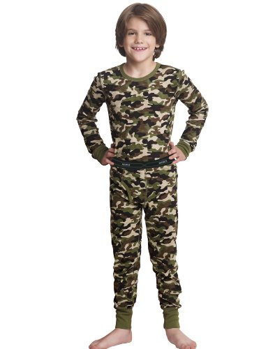 - Hanes 25450 Boys X-Temp Camo Thermal Set - Camo - M