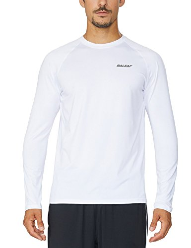 Mens White Out (Baleaf Men's Cool Running Workout Long Sleeve T-Shirt White Size XXL)