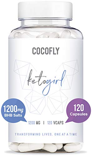 COCOFLY KetoGirl Ultra Keto Pills - 1200 mg, Rapid Fat Burners for Women, 120 Pure Capsules, Super Fast Ketosis, Enhanced BHB Salts, 6X Advanced Weight Loss Supplement, Exogenous Ketones, Slim Boost