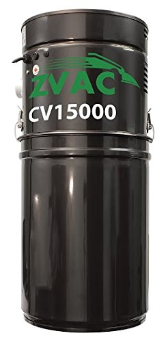 "ZVac CV15000 central vacuum cleaning system with dual motors for very large homes with 171"" H20!"
