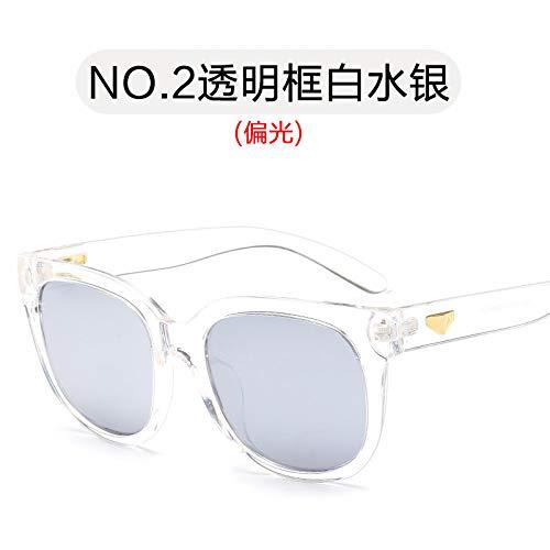 Gafas Sol Mujer Color polarizadas Simples de mercury Brillante Gafas frame y Negro de Sol de Cine white Violeta Gafas Sol Hombre Transparent Sol Gafas Burenqiq de Estilo 8XqHpzYnxw
