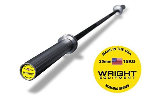 15kg Olympic Barbell Black-Black