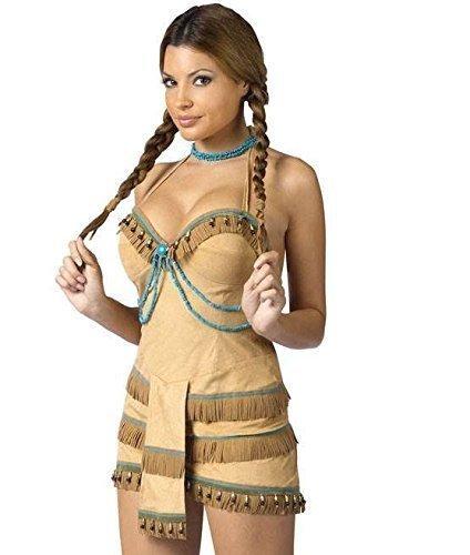 Traje De Neopreno Para Mujer Sexy Indian Pocahontas Native India - Hacer-disfraz-india