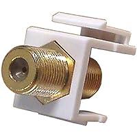 GC 45-0991-00BU - Coax Insert Gold F-81 White frame 10 pack - Standard Datacom Wall Plate