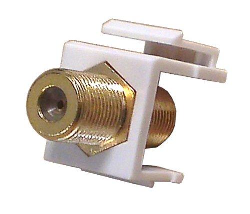 GC 45-0991-00BU - Coax Insert Gold F-81 White frame 10 pack - Standard Datacom Wall ()