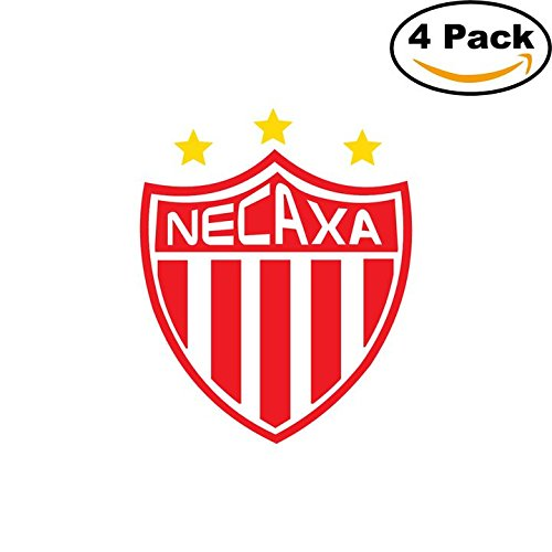 fan products of Necaxa Soccer Liga MX Mexico Decal Logo 4 Stickers 4X4