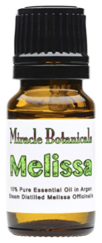 Miracle Botanicals Melissa Officinalis Essential Oil 10% Dilute in Golden Argan - 10ml