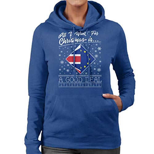 Deal Women's Royal Coto7 Want All Sweatshirt Good Hooded Is A Christmas For Blue I qqBpwr18Z