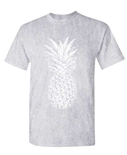 SKULL PINEAPPLE - retro style hipster - Mens Cotton T-Shirt, M, - Style Mens Hipster