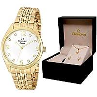 Relógio Champion Elegance Analógico Feminino Cn26251W + Folheado 18K