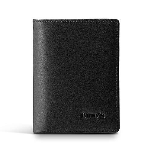 Cinos RFID Blocking Slim Extra Capacity Mens Black Wallets