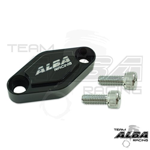 Billet YFZ 450 / 450R/X Parking Brake Block Off Black (all years)