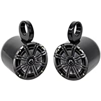 (2) Jeep Wrangler Kicker 6.5 Easy Mount Waterproof Soundbar/Roll Bar Speakers
