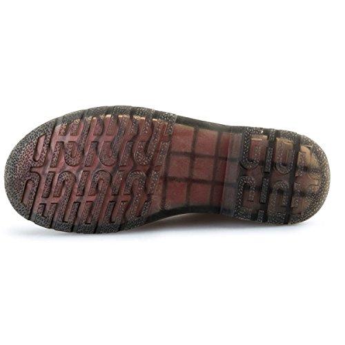Solo Marciales Femenino Artes De Botas Altura Zapatos Viento Botas Encaje Botas Retro Inglés Impermeable Estudiante Cabeza Botas Black Redonda Interior IqwOtfxBfn