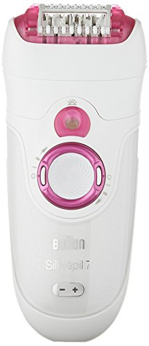 Braun Silk-épil 7 7-521 Women's Epilator, Electric Hair Removal, Wet & Dry, Cordless, White/Pink