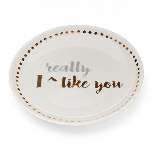 Lauren Conrad Trinket Tray - I Really Like you, Happily Ever After, Cheers (I Really Like (Lauren Conrad Jewelry)