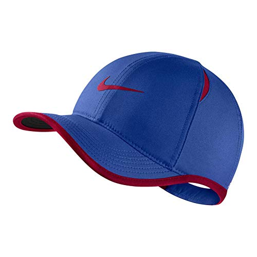 Nike Boy's Featherlight Printed Adjustable Hat (Game Royal(739376-481)/Bardo, One Size) (Nike Dri Fit Game)