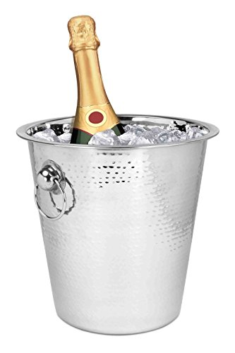 Durable Hammered Stainless Steel Champagne Ice Bucket Perfect For Any Bar Or Home
