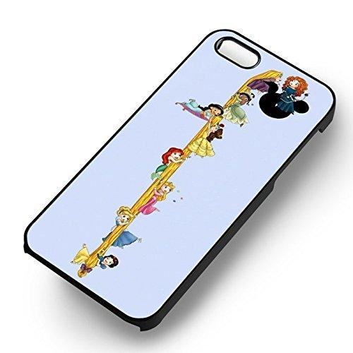 Princess falling down long hair pour Coque Iphone 6 et Coque Iphone 6s Case (Noir Boîtier en plastique dur) B5M2GU