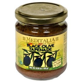 Meditalia Black Olive Tapenade, 6.35-ounce Jars (Pack of 6)